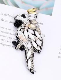Fashion White Bird Shape Design Simple Patch