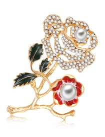 Fashion Multi-color Hollow Out Rose Decorated Brooch