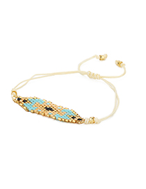 Fashion Beige Geometric Shape Decorated Bracelet