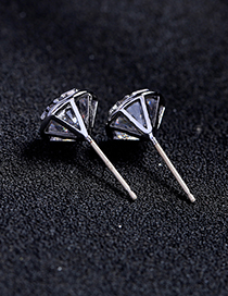 Fashion Silver Color Hollow Out Design Round Shape Earrings