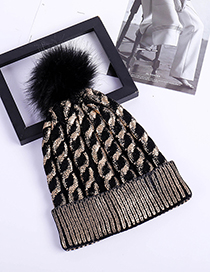 Fashion Gold Color Wave Pattern Decorated Hat
