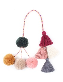 Fashion Multi-color Tassel Decorated Keychain
