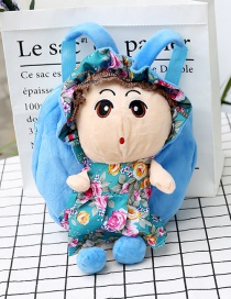 Fashion Blue Girl Shape Decorated Backpack