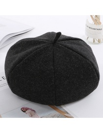 Simple Black Pure Color Decorated Berets