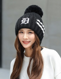 Fashion Black Letter Pattern Decorated Hat
