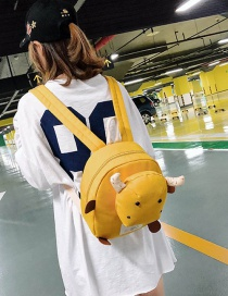 Simple Yellow Cow Shape Decorated Backpack