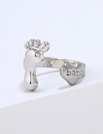 Fashion Silver Color Heart&foot Shape Decorated Ring