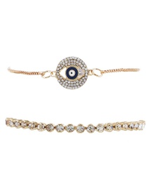 Fashion Gold Color Eyes Shape Decorated Bracelet