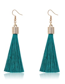 Fashion Dark Blue Pure Color Decorated Earrings