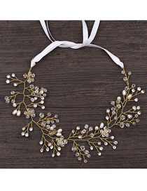 Fashion Gold Color Branch Shape Design Bride Hair Accessory