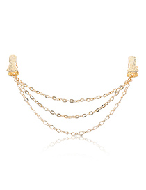 Fashion Gold Color Chains Decorated Pure Color Shawl Buckle
