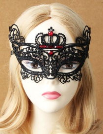 Fashion Black Hollow Out Deisgn Pure Color Mask