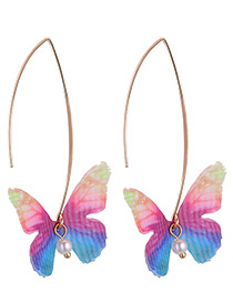 Fashion Multi-color Butterfly Shape Design Earrings