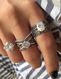 Fashion Silver Color Multi-layer Design Rings Sets