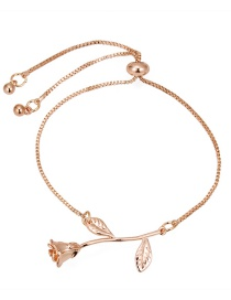 Fashion Gold Color Rose Shape Design Bracelet
