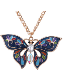 Fashion White Butterfly Shape Decorated Neclace