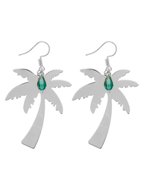 Fashion Silver Color Tree Shape Deisgn Earrings