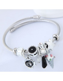 Fashion Black Multi-element Design Bracelet