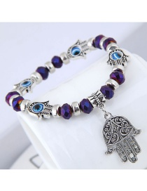 Fashion Purple Palm Shape Decorated Bracelet