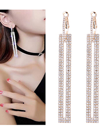 Fashion Gold Color Full Diamond Decorated Earrings