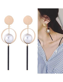 Fashion Multi-color Ball Shape Decorated Earrings