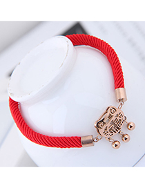 Fashion Red Hollow Out Design Bracelet