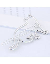 Fashion Silver Color Cat Shape Design Hair Clip