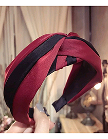 Fashion Claret Red Color-matching Decorated Hair Hoop
