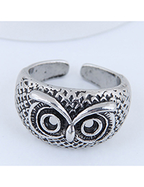 Fashion Silver Owl Opening Ring