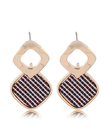 Fashion Gold Geometric Square Earrings