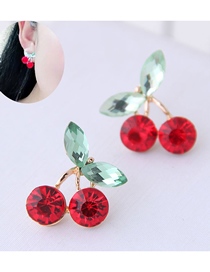 Fashion Red Cherry Earrings
