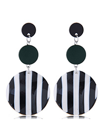 Fashion Black Striped Earrings