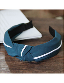 Fashion Green Splicing Knotted Widened Headband