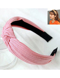 Fashion Pink Knitted Cross Knotted Headband