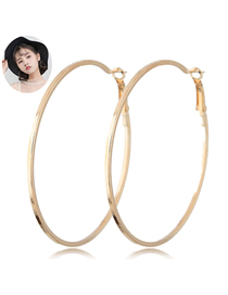 Fashion Gold Metal Ring Earrings