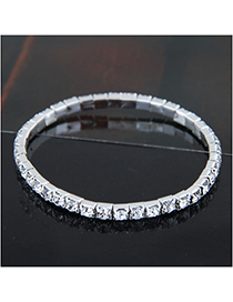 Fashion Silver (single Row) Metal Diamond Bracelet
