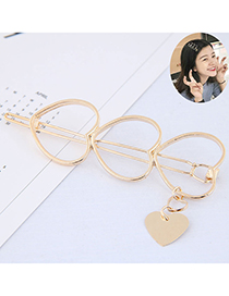 Fashion Gold Metal Five-pointed Star Hairpin