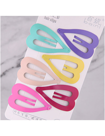 Fashion Color Children's Love Hairpin