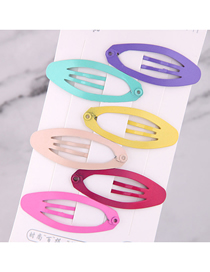 Fashion Color Children's Oval Hair Clip