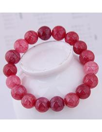 Fashion Red Crystal Glass Bead Bracelet