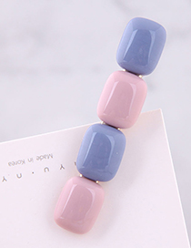 Fashion Blue + Pink Candy Color Hair Clip