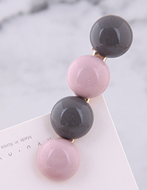 Fashion Gray + Pink Candy Color Hair Clip