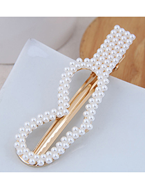 Fashion Gold Imitation Pearl Small Flower Hairpin (water Droplets)