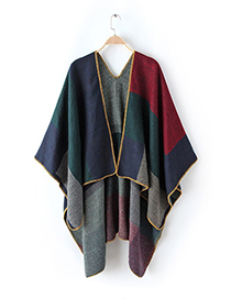 Fashion Multi-color Color-matching Decorated Cloak