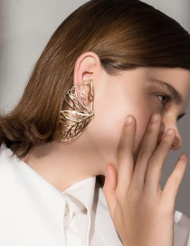 Fashion Gold Color Hollow Out Deisgn Butterfly Shape Earrings