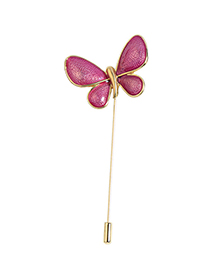 Fashion Plum Red Butterfly Shape Design Brooch