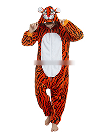 Fashion Orange Tiger Shape Decorated Jumpsuit(for Child)