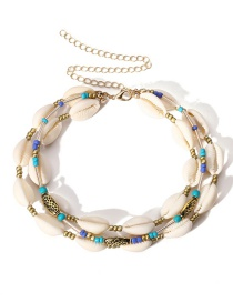 Simple Gold Color Shell Shape Decorated Necklace