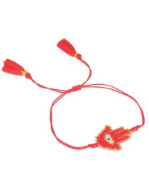 Simple Red Hand Shape Decorated Bracelet