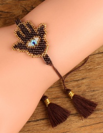 Simple Brown Hand Shape Decorated Bracelet